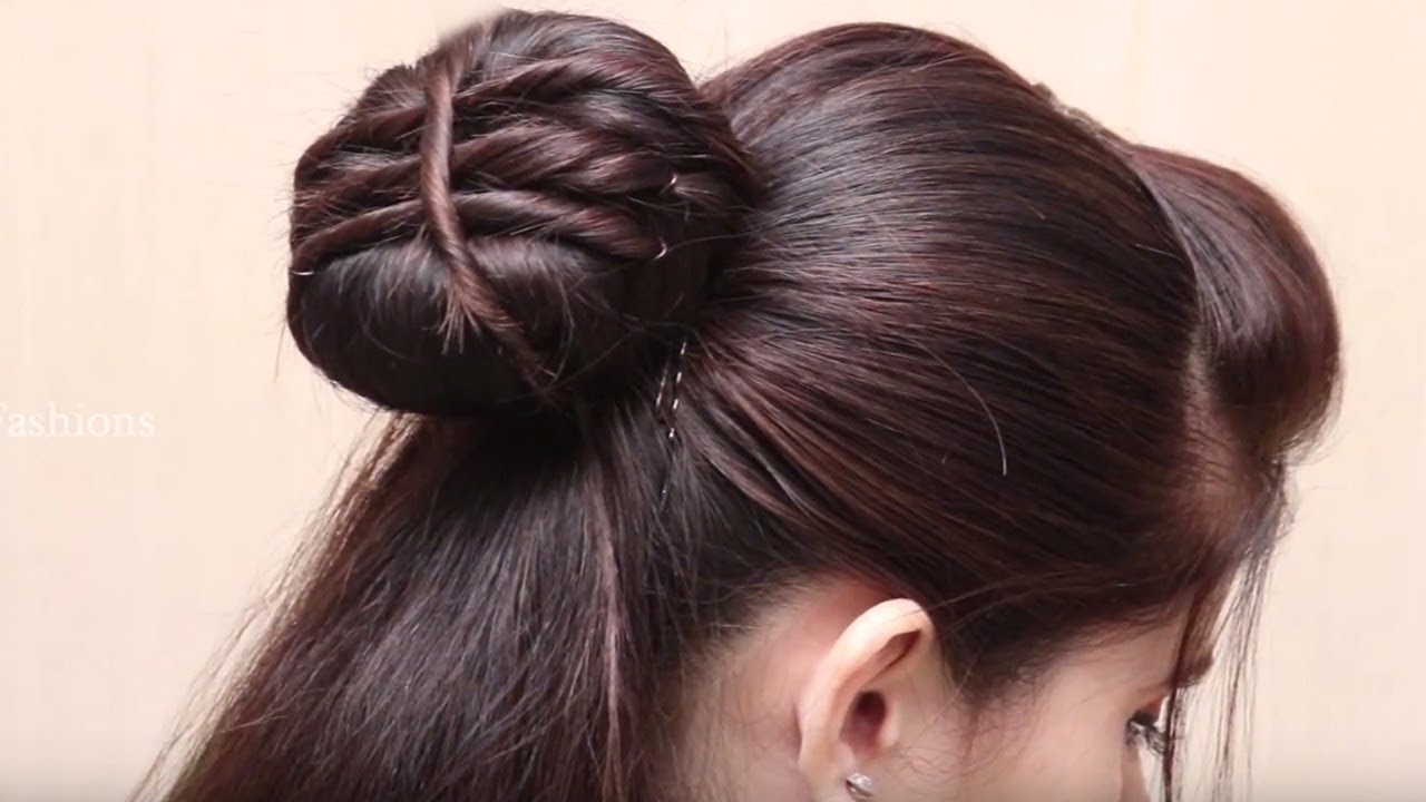 Simple And Easy Juda Hairstyle Juda Trick Bun Hair Style Cute